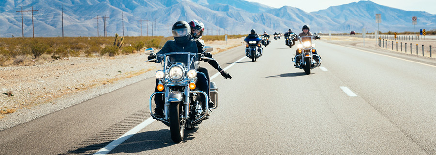 Group riding tips for motorcycle touring