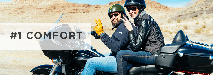 Comfort of a rider and a passenger for long motorcycle tours and trips