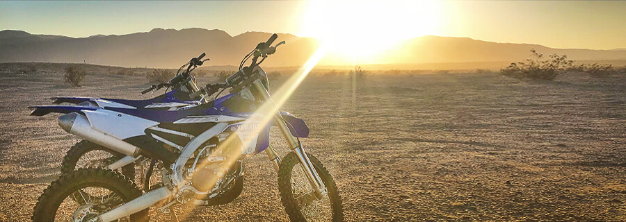 Offroad motorcycle riding improves traction