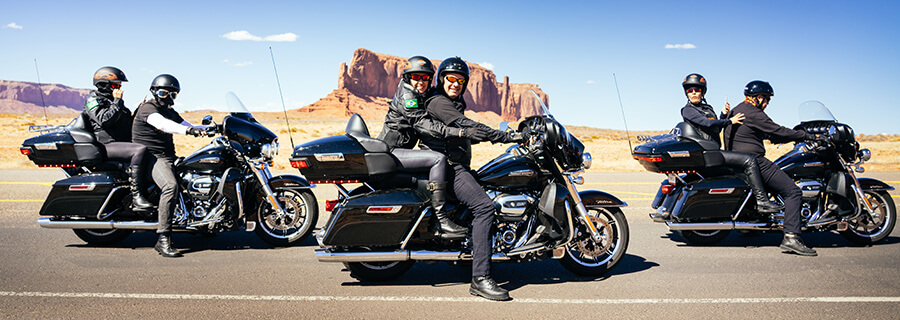Motorcycle ride in Monument Valley, Utah